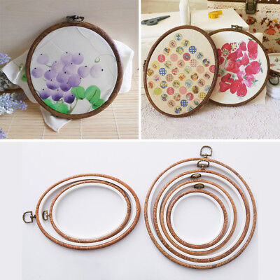 1Pcs Plastic Cross Stitch Hoop Ring Embroidery Circle Sewing Kit Frame Craft