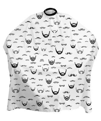 Barber Shop Cape Gown Beard Moustache Design For Salons Hairdressers Stylists