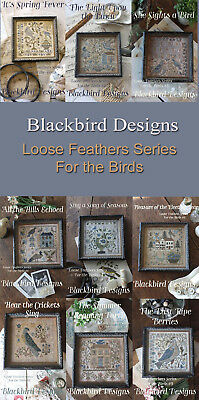Loose Feathers For the Birds Series Blackbird Designs Patterns 1 - 9