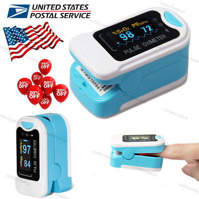 US Finger Pulse Oximeter Heart Rate Color Screen SpO2 Meter Blood Oxygen Monitor