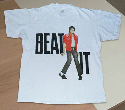 Vintage tshirt Michael Jackson Rare 1984 Beat It Concert tee 80s Pop reprint