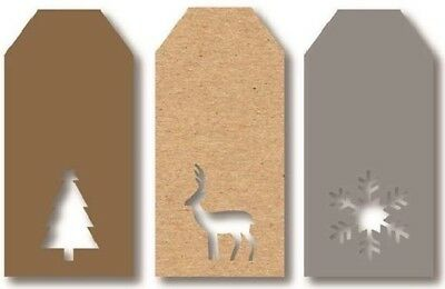12 Luxury Gift Tags Christmas Diecut Xmas Gift Wrapping Present Various Designs