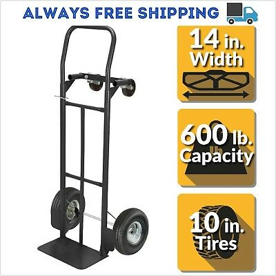 Olympia Dolly 2-in-1 Convertible Hand Truck 600 Lbs. Capacity Heavy Duty Steel