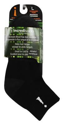 Incrediwear Bamboo Charcoal Socks Above Ankle Sports Black, Large