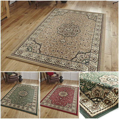Traditional Classic Oriental Floral Small Extra Large Non Shed By Think Rugs