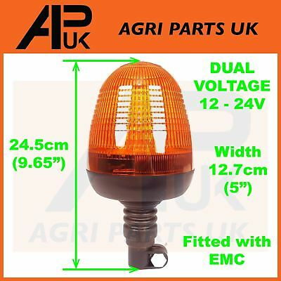Flexible LED Flashing Amber Beacon Tractor Dumper Digger Excavator Lorry Truck
