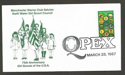 1987 US Girl Scouts Manchester NH Stamp Club 75th anniversary