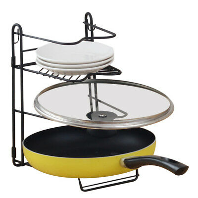 Kitchen Tool Storage Knife Holder Cutting Chopping Board Rack Pot Lid Pan Cover