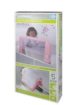 Lindam Easy Fit Bed Guard Pink Safe & Secure Your Baby Brand New BNIB Free Post