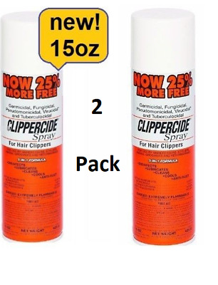 2X King Clippercide Spray 15 OZ For Hair Clipper Barber Disinfectant Kill Germs