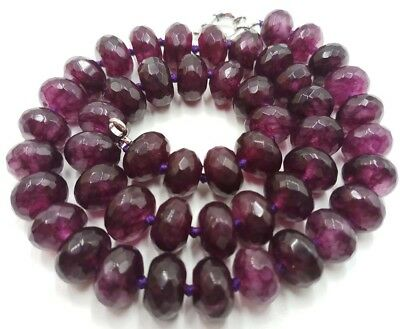 """6x10MM Natural Faceted Red jade Abacus Beads Necklace 18/""""AAA"""