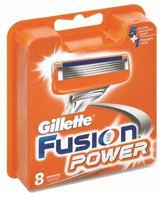 Gillette Fusion Power Razor Cartridges PACK OF 8 Blades Genuine New