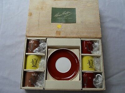 Susie Cooper Vintage Bone China Demitasse Cup & Saucer Boxed Set of 12 *Rare*