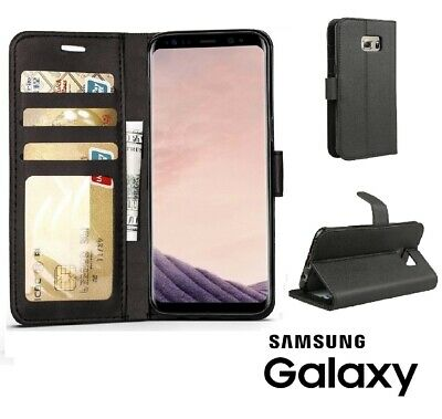Leather Flip Wallet Case For Samsung Galaxy S7 S8 S9 Plus Note 9 8 Stand Cover