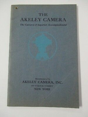 The AKELEY CAMERA Illustrated Promotional Booklet circa 1922
