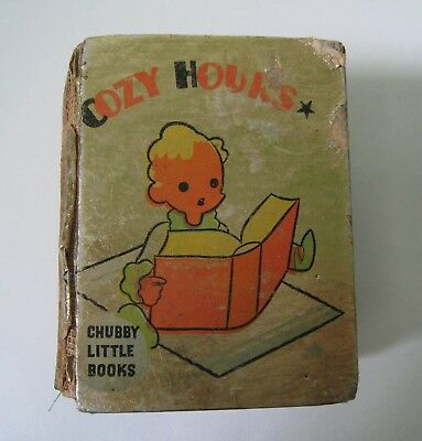 Rare Whitman 1935 Chubby Big Little Book Cozy Hours Old Children's Stories