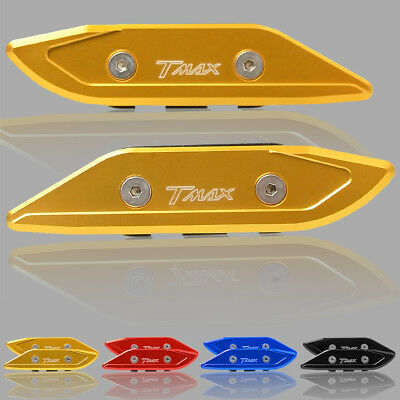 Windshield Mirrors Bracket Cap Clamp Cover for Yamaha TMAX 530 2012-2017 gold