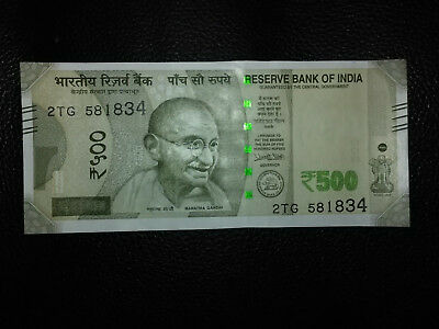 New Indian 500 Rupees currency note with Gandhi picture pristine condition