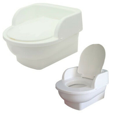 Baby Kids Plastic Potty Pot Toilet Seat Trainer Training Seat Throne White