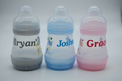 Personalised MAM Anti Colic Baby Bottle Boy/Girl Ideal Gift 160ml Easy Start 0+