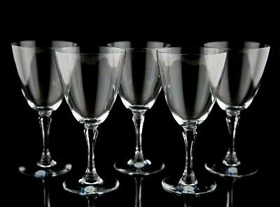 Lenox Crystal Romance Water Goblet Glasses, Set of (6), Hand Blown Glass