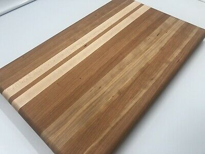 Rustic Cutting Board Chopping Block With Quilted Cherry And Maple Wood GORGEOUS!