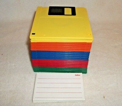 """Fuji Film IBM Formatted 3.5"""" Floppy Disks 1.44 MB Sold By Color & Quantity"""