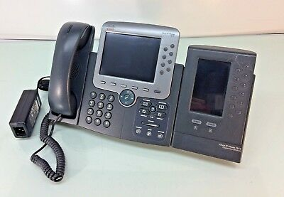 Cisco CP-7975G IP Phone w/ Gigabit Switch & Color Display & CP-7916 Expansion
