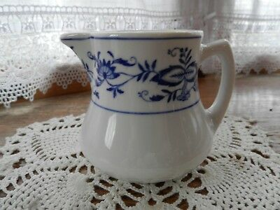 Sterling vitrified china East Liverpool, Ohio blue onion creamer diner ware