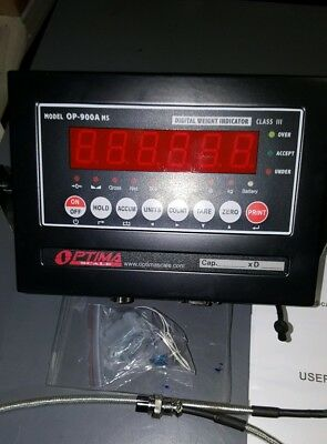 NEW OPTIMA  OP-900A MS  Scale Digital Weighing Indicator +Tripp-lite SK-30