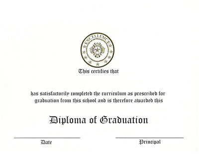 White and Ivory Raised-Print Graduation Diploma Certificate Cardstock - 50 count