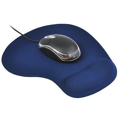 Blue Anti-Slip Comfort Wrist Gel Rest Support Mouse Mat With Gel PC Laptop