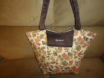 Longaberger Autumn Path Corduroy Tote Bag Purse-NEW--SALE!!!