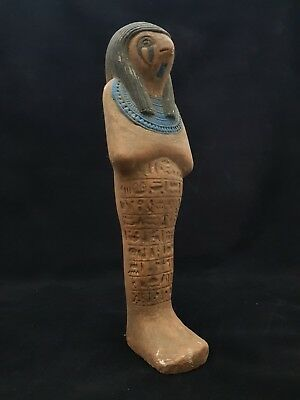 Rare Ancient Egyptian Antique USHABTI God HORUS Falcon Statue Egypt Sculpture BC