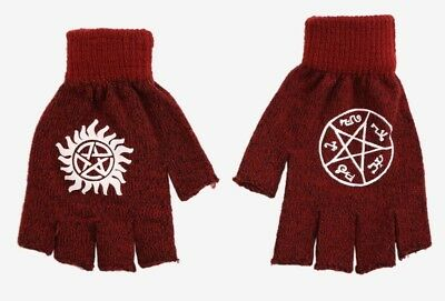 Supernatural Fingerless Knit Gloves, New With Tags Made By Bioworld, Winchester