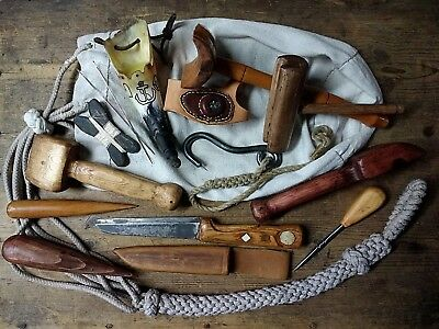 Sailor tools & Ditty Bag serving mallet fid knife palm grease horn seam rubber