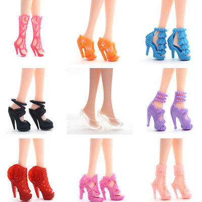 40Pairs Mini Different High Heel Shoes Boots For 29cm Doll Dresses