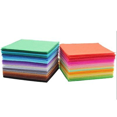 40pcs 15x15cm Non Woven Felt Fabric 1mm Thickness Polyester Cloth Felts DIY Bund
