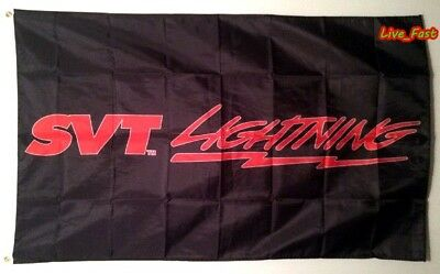 SVT FORD LIGHTNING F150 TRUCK FLAG BANNER ford racing sign poster collectable
