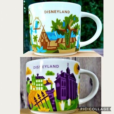 Starbucks You Are Here New Orleans Square and Adventureland Disney Parks Mug Set