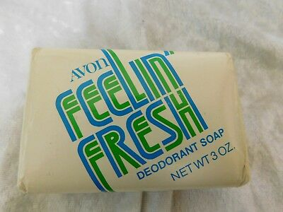 Vintage 1970's AVON Feelin' Fresh Deodorant Bar Soap 3 oz Never Used