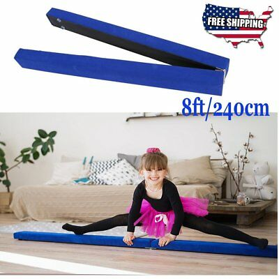 2.4M Folding Gymnastics Foam 8FT Balance Beam Training Sport Practice For Kids V