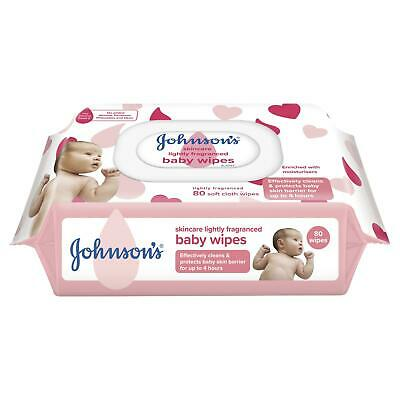 Johnsons Baby Wipes Skin Care Refill 80 Softwave Fabric Hypoallergenic Skin Care