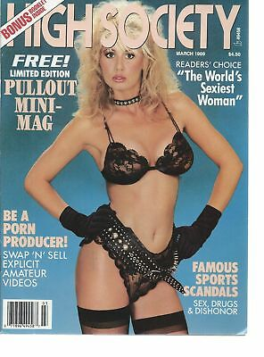 1989 High Society Magazine The World's Sexiest Woman Pin-up Porn Girls