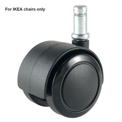 """Office Desk Chair wheels Replacement Castors with 3/8""""(10mm) Stem Fit IKEA Chair"""
