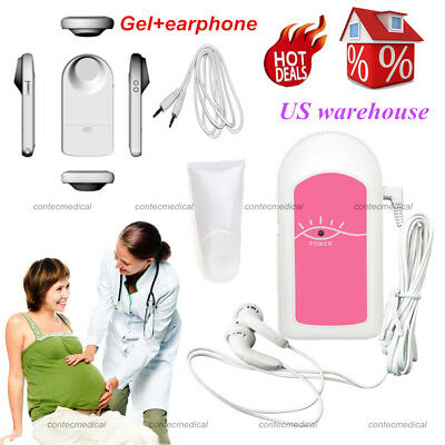 FDA US Pregnancy Home Care-Check Baby Safe Fetus Heart Rate Monitor Recorder,Gel