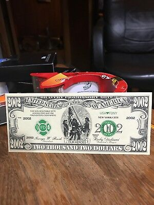 Fire Fighter  OUR HEROES 2002 DOLLAR BILLS 9/11 New York money