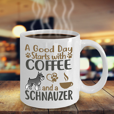 Coffee With My Schnauzer, Schnauzer Coffee Mug, Schnauzer Gift, Schnauzer Mug
