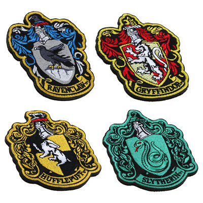 Harry Potter Gryffindor/Hogwarts/Slytherin/Huffelpuff Crest Badge Iron On Patch