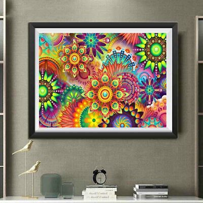 AU Color Lotus Full Drill 5D Diamond Embroidery Painting Cross Stitch Kit MA
